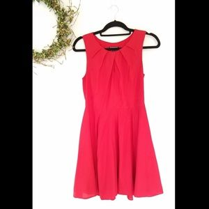 Express A line fit and flare keyhole dress